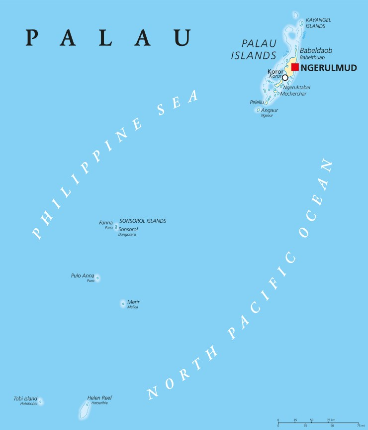 Landkarte Palau