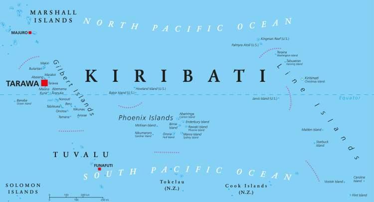 Kiribati, Karte