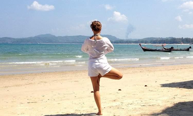 Yoga Strand Indien