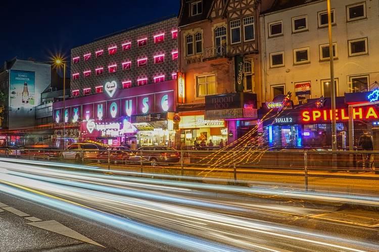 St. Pauli Hamburg und das Amüsierviertel an der Reeperbahn
